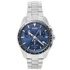 Rado Blue Stainless Steel HyperChrome R32259203 Chrono Men's Wristwatch 44 mm