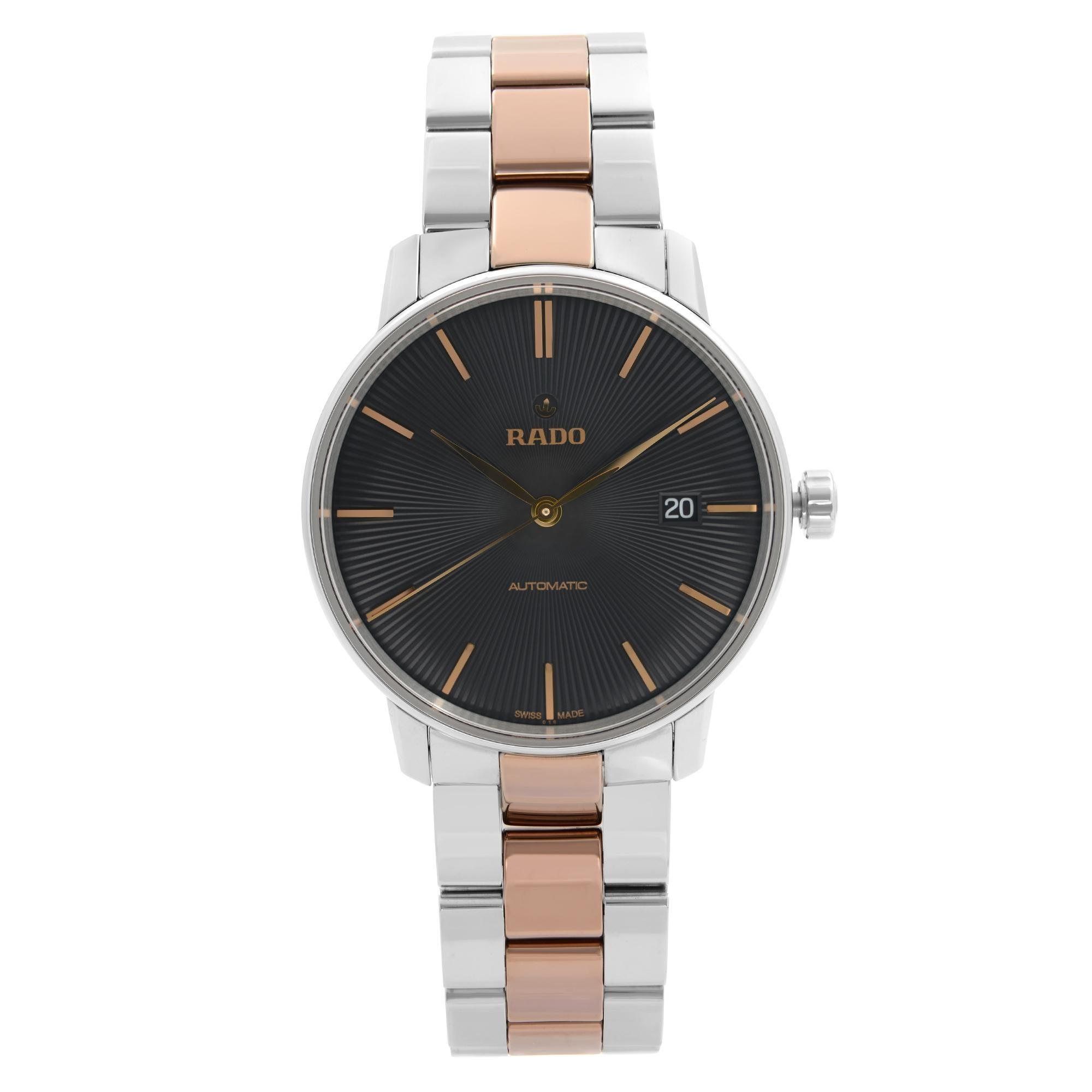 Rado Coupole Classic Steel Ceramic Black Dial Automatic Mens Watch R22860162