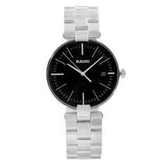 Rado Coupole L Stainless Steel Black Dial Date Quartz Men's Watch R22852163