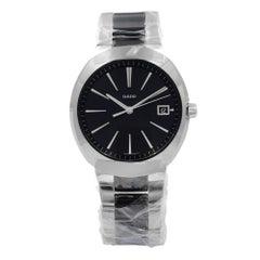 Rado D-Star XL Black Dial Stainless Steel Ceramic Quartz Men's Watch R15943162