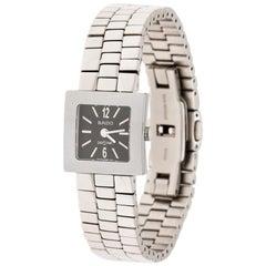 Rado Grey Stainless Steel Carbon Carbide Diastar R18682153 Womens Wristwatch20mm