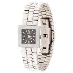 Rado Grey Stainless Steel Carbon Carbide Diastar Women's Wristwatch 20 mm
