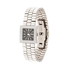 Rado Grey Stainless Steel Carbon  Diastar R18682153 Women's Wristwatch 20 mm