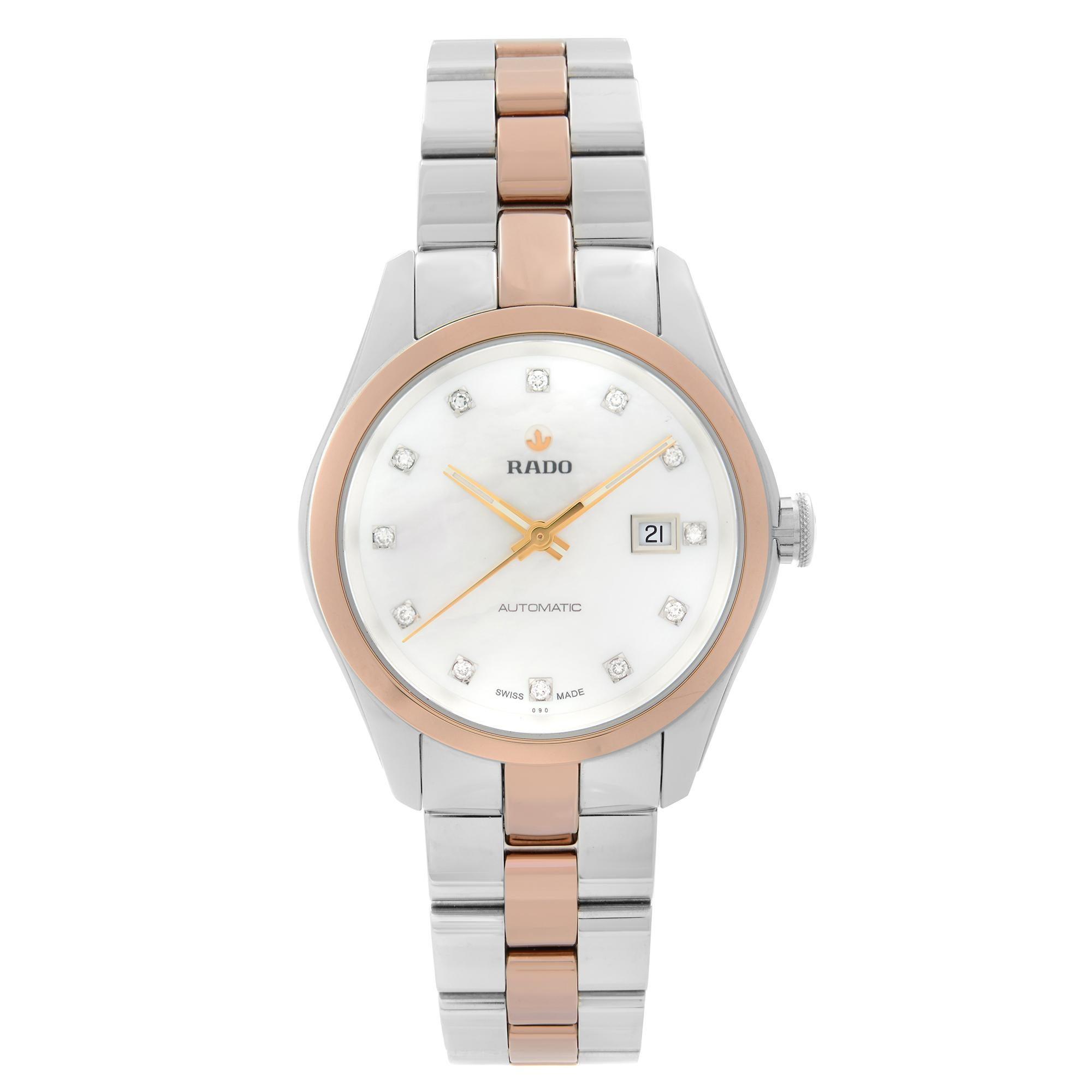 Rado Hyperchrome Steel Ceramic MOP Diamond Dial Automatic Ladies Watch R32087902