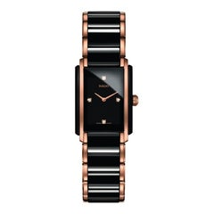 Rado Integral Black Ceramic and Diamonds Ladies Watch R20612712