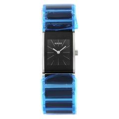 Rado Integral Black Dial Steel Ceramic Ladies Watch R20786152