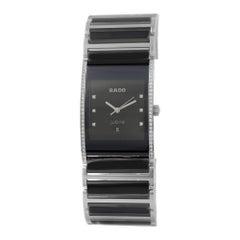 Rado Integral PVD Steel Diamond Black Dial Quartz Men's Watch R20757759