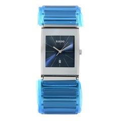 Rado Integral Stainless Steel Quartz Blue Dial Men's Watch R20745202