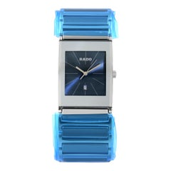 Rado Integral Stainless Steel Quartz Blue Dial Men's Watch R20745202