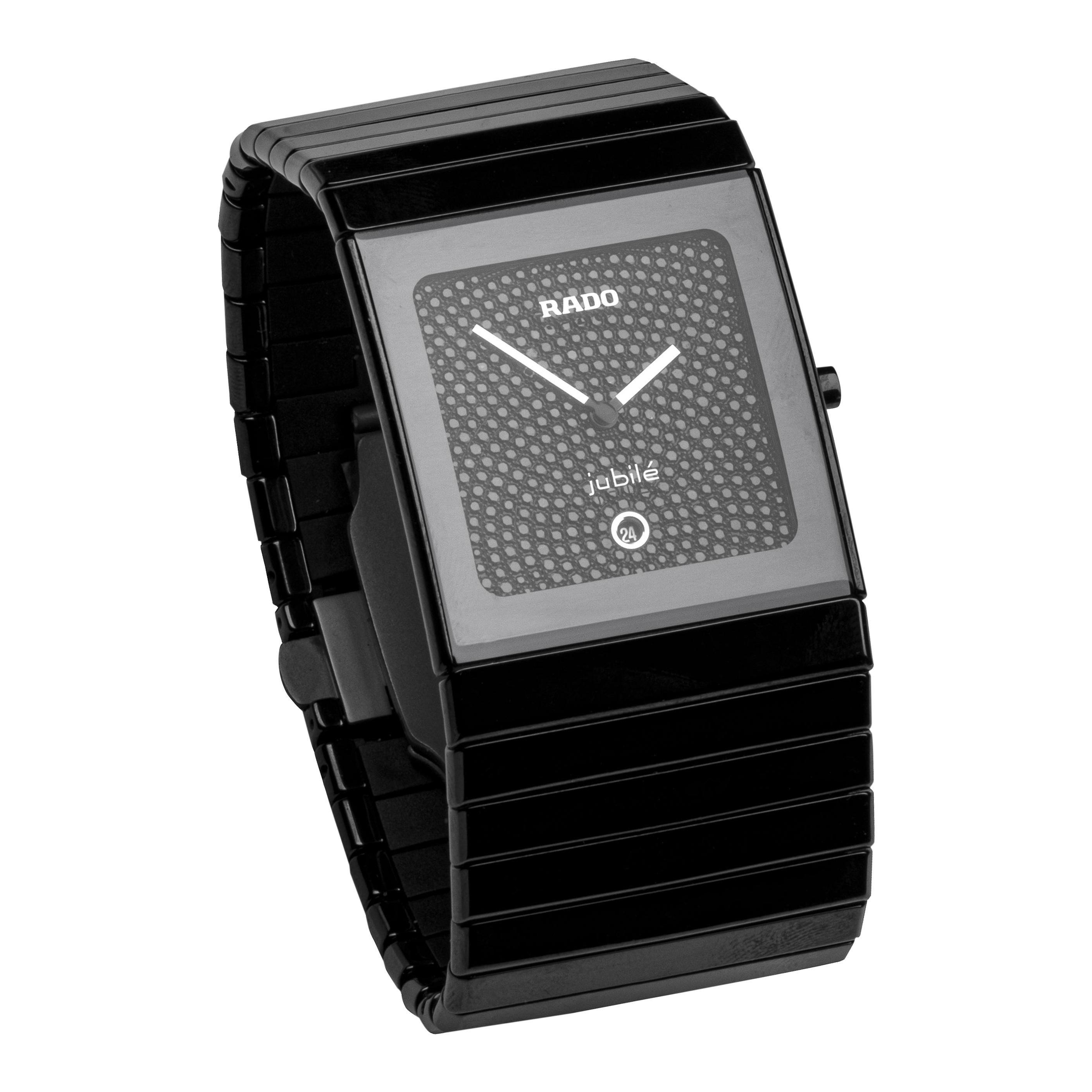 Rado Jubile Ceramica Black Diamond Face Watch