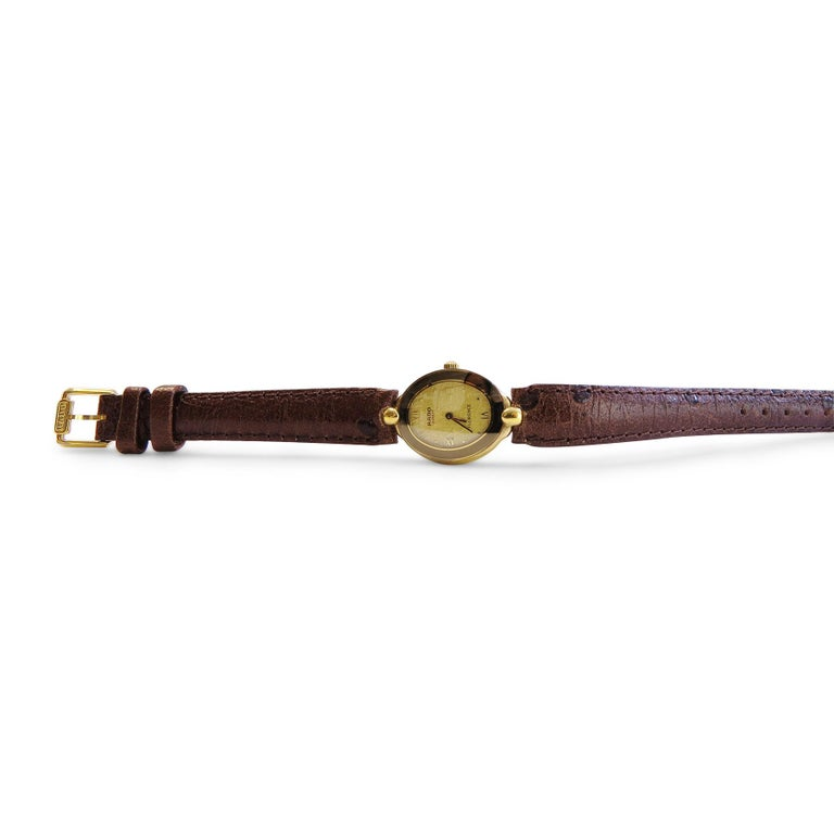 Rado Ladies Watch Whit 18 Karat Plated Yellow Face and Sapphire Crystal For Sale 1