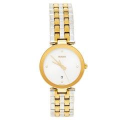 Rado Silver Gold Tone Stainless Steel Florence R48872723 Women's Wristwatch 28MM