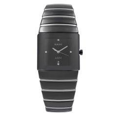 Rado Sintra Jubile Ceramic Black Dial Square Quartz Men's Watch R13335732