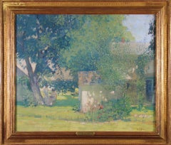 Carroll Price Farm, Bucks County, Pennsylvania Impressionist Landscape, Figures