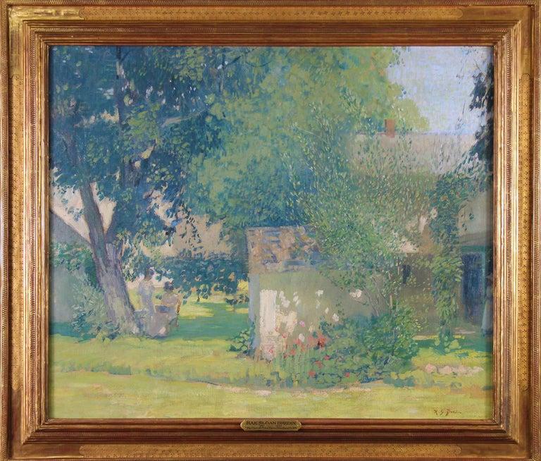 Rae Sloan Bredin Landscape Painting - Carroll Price Farm, Bucks County, Pennsylvania Impressionist Landscape, Figures