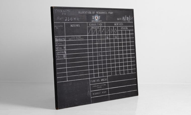 English R.A.F. Blackboard For Sale
