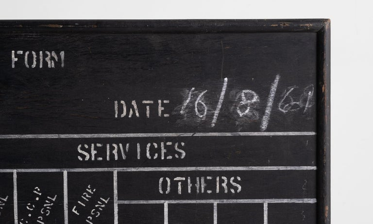 R.A.F. Blackboard In Good Condition For Sale In Culver City, CA