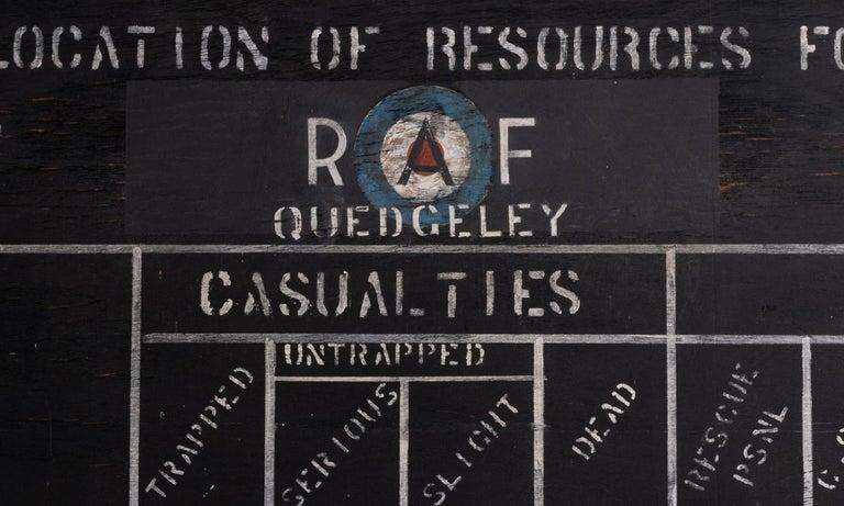 20th Century R.A.F. Blackboard For Sale