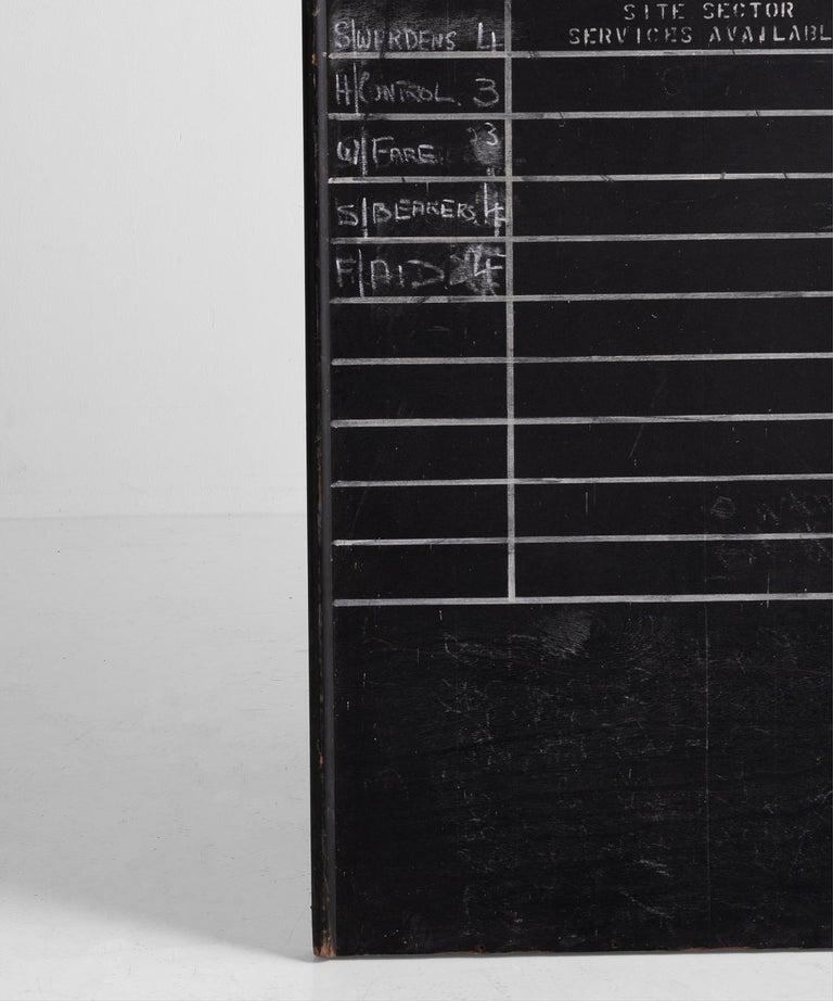 Wood R.A.F. Blackboard For Sale