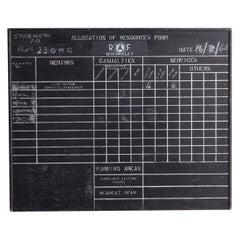 R.A.F. Blackboard