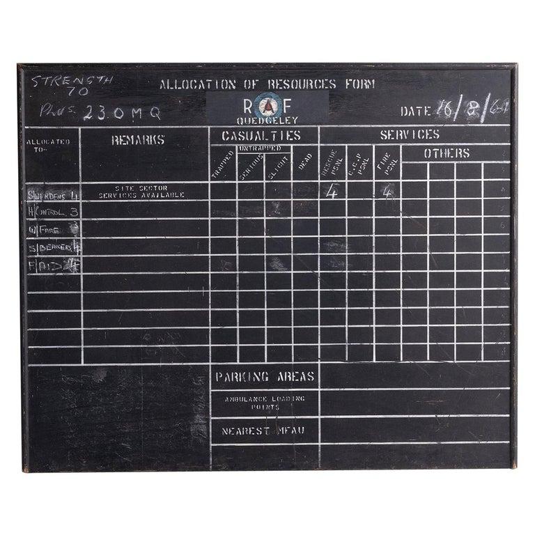 R.A.F. Blackboard For Sale