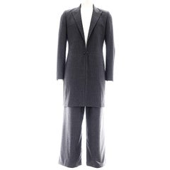 Raf Simons Autumn Winter 1999 Grey Mens Suit Ensemble