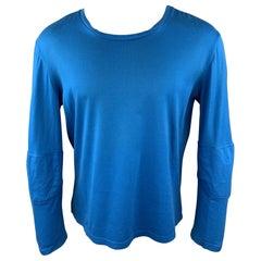 RAF SIMONS AUTUMN / WINTER 2009-2010 Size S Aqua Cotton Scoop Neck T-shirt
