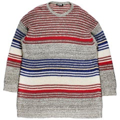 Raf Simons AW2004 Oversized Multicolor Sweater