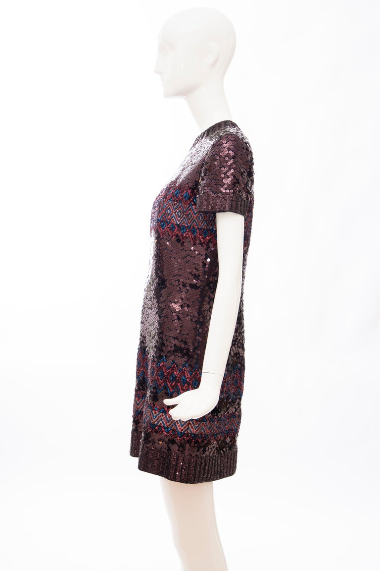 Raf Simons for Christian Dior Embroidered Sequin Evening Dress, Pre-Fall 2015 For Sale 5