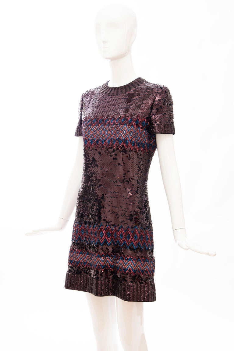 Raf Simons for Christian Dior Embroidered Sequin Evening Dress, Pre-Fall 2015 For Sale 6