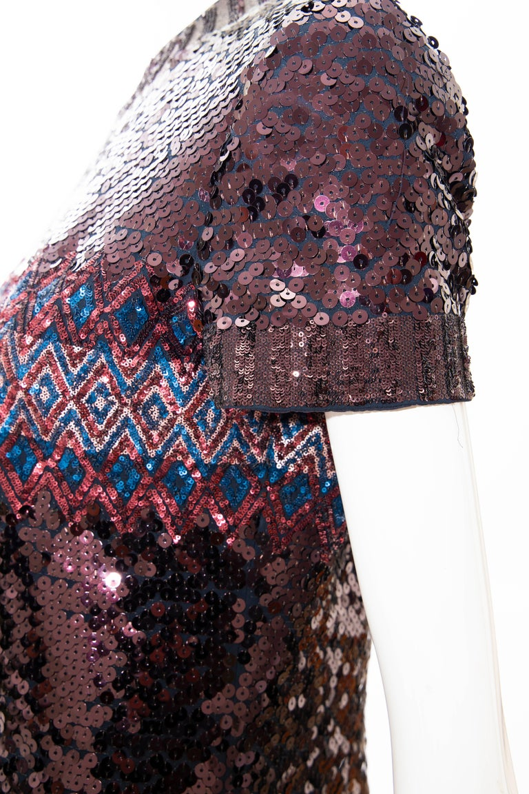 Raf Simons for Christian Dior Embroidered Sequin Evening Dress, Pre-Fall 2015 For Sale 7