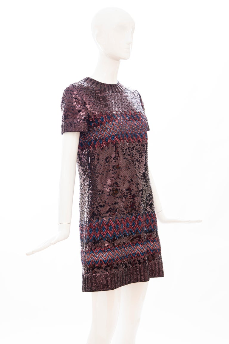 Raf Simons for Christian Dior Embroidered Sequin Evening Dress, Pre-Fall 2015 In Excellent Condition For Sale In Cincinnati, OH