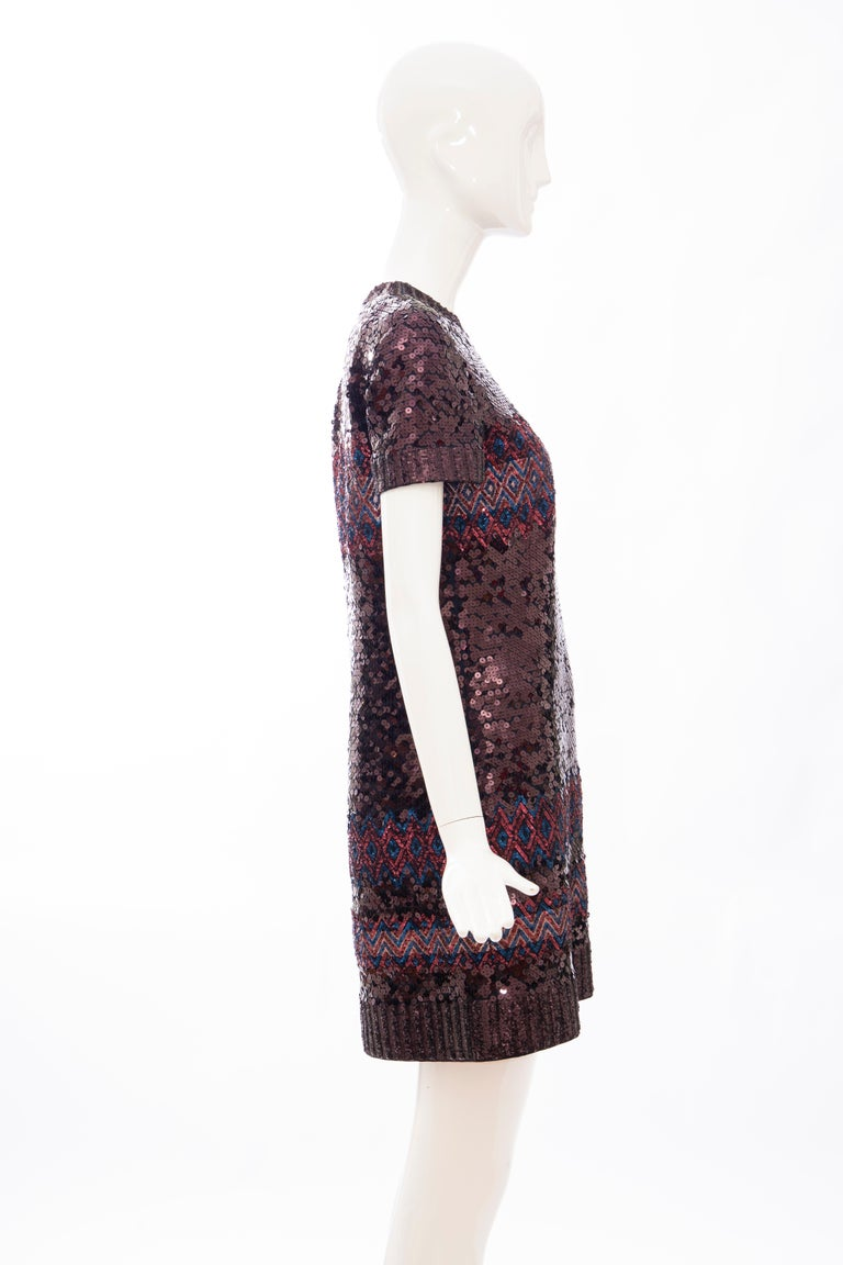 Women's Raf Simons for Christian Dior Embroidered Sequin Evening Dress, Pre-Fall 2015 For Sale