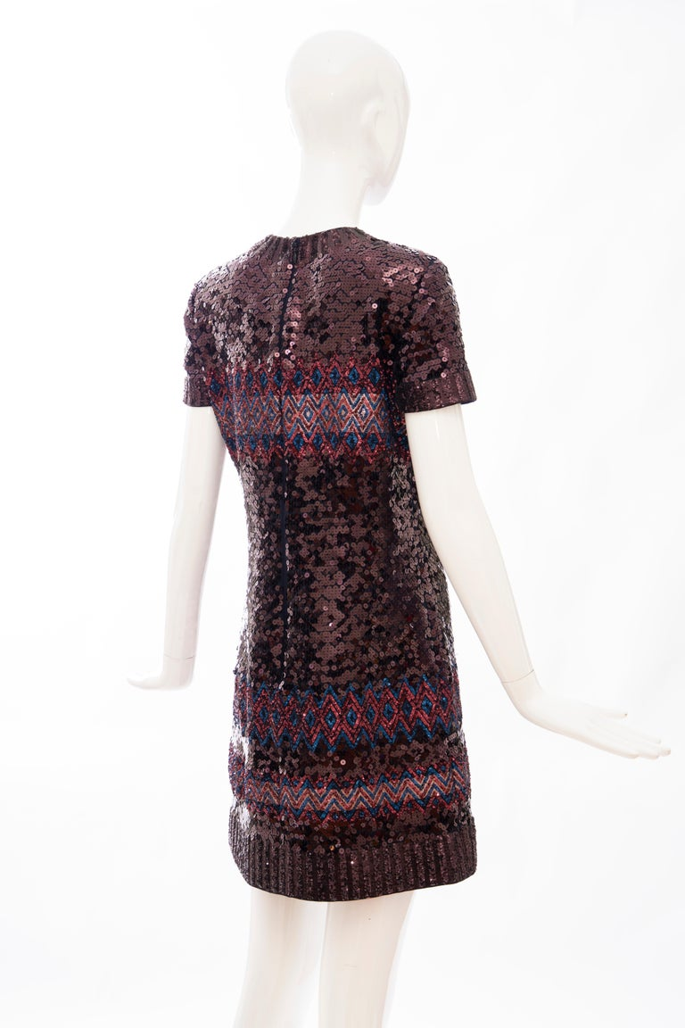 Raf Simons for Christian Dior Embroidered Sequin Evening Dress, Pre-Fall 2015 For Sale 1