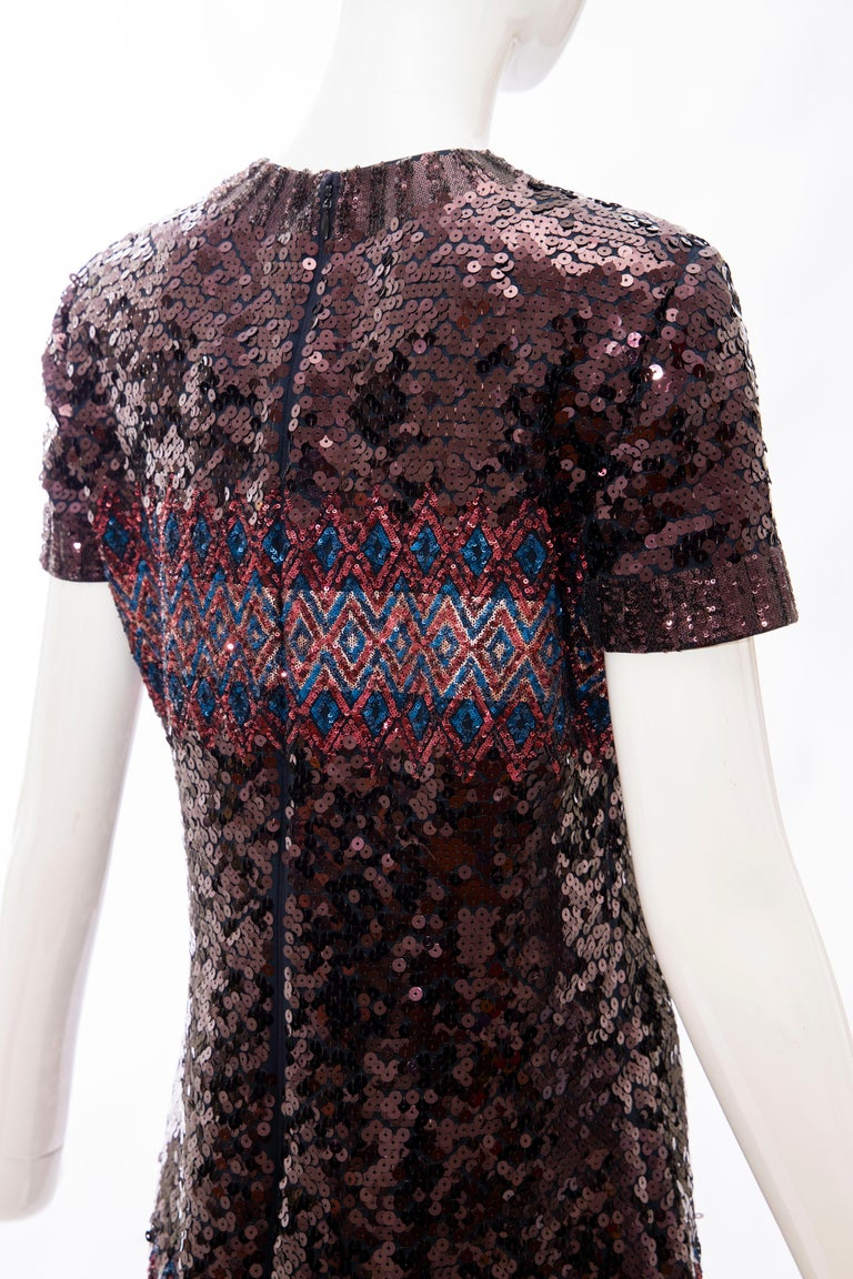 Raf Simons for Christian Dior Embroidered Sequin Evening Dress, Pre-Fall 2015 For Sale 2