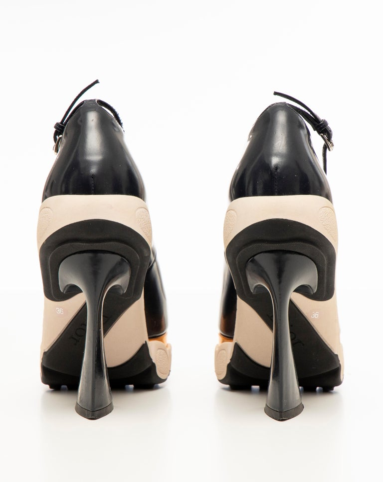 Raf Simons for Christian Dior Patent Leather Runway Sneaker Pumps, Fall 2014 For Sale 5
