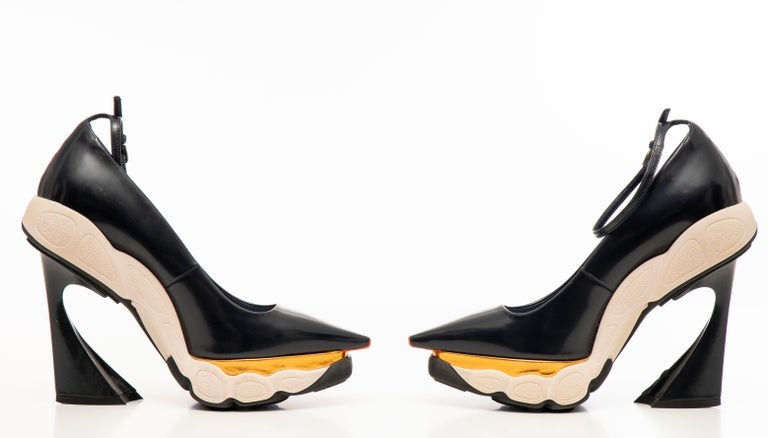 Raf Simons for Christian Dior Patent Leather Runway Sneaker Pumps, Fall 2014 For Sale 6