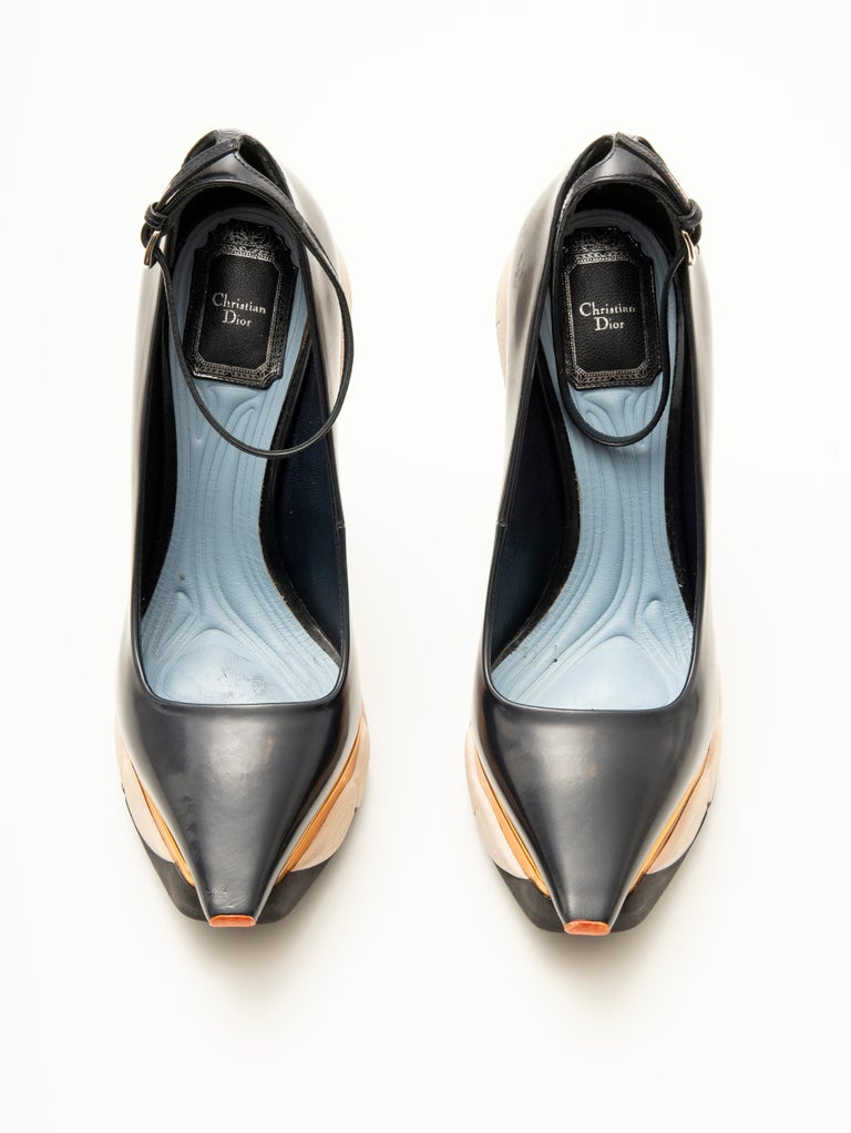 Raf Simons for Christian Dior Patent Leather Runway Sneaker Pumps, Fall 2014 For Sale 9