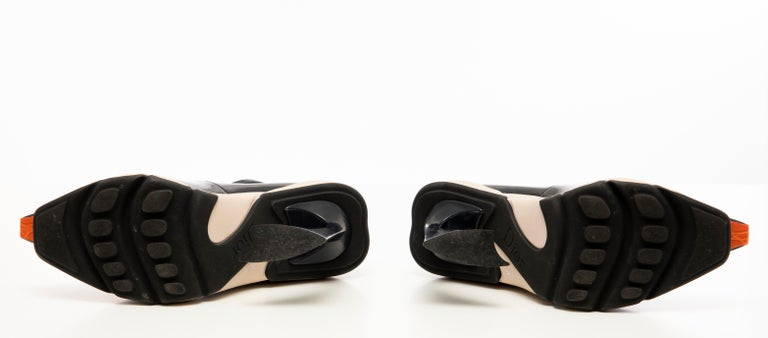 Raf Simons for Christian Dior Patent Leather Runway Sneaker Pumps, Fall 2014 For Sale 10