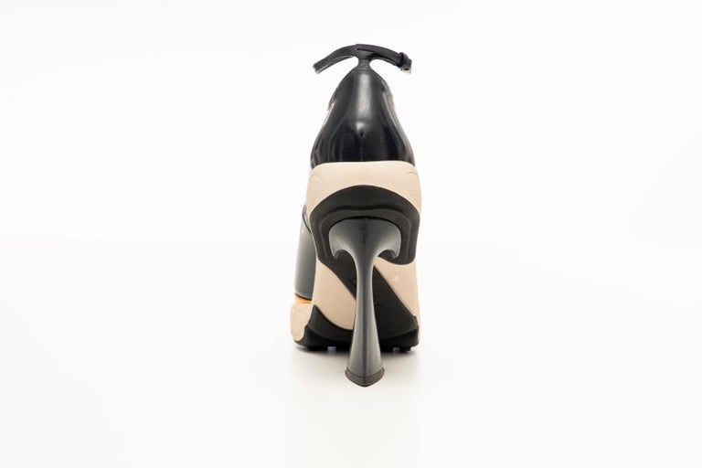 Raf Simons for Christian Dior Patent Leather Runway Sneaker Pumps, Fall 2014 In Excellent Condition For Sale In Cincinnati, OH