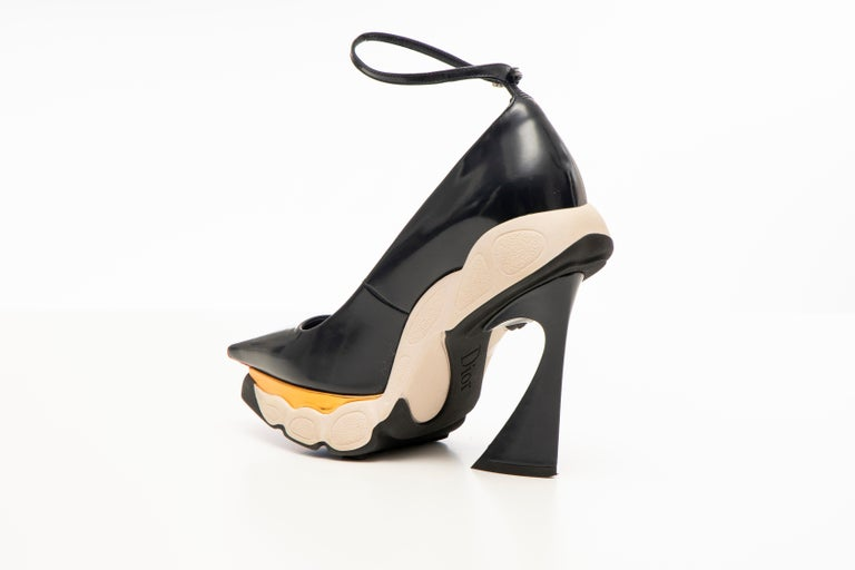 Women's Raf Simons for Christian Dior Patent Leather Runway Sneaker Pumps, Fall 2014 For Sale