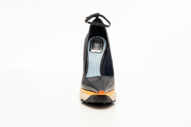 Raf Simons for Christian Dior Patent Leather Runway Sneaker Pumps, Fall 2014 For Sale 3