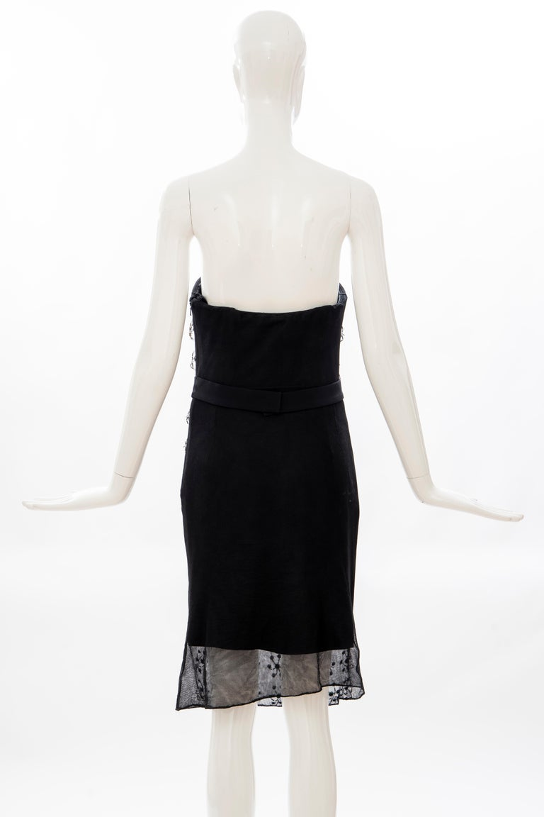 Raf Simons for Christian Dior Runway Strapless Embroidered Dress, Spring 2013 For Sale 5