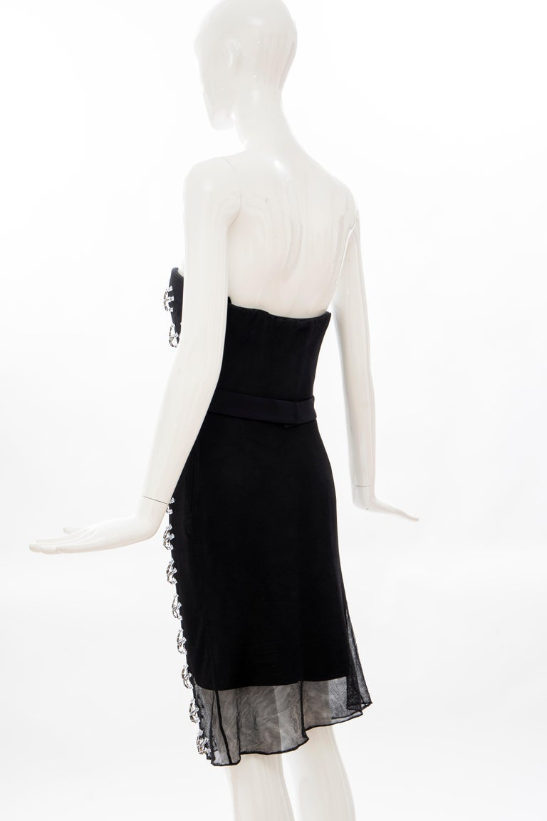 Raf Simons for Christian Dior Runway Strapless Embroidered Dress, Spring 2013 For Sale 6