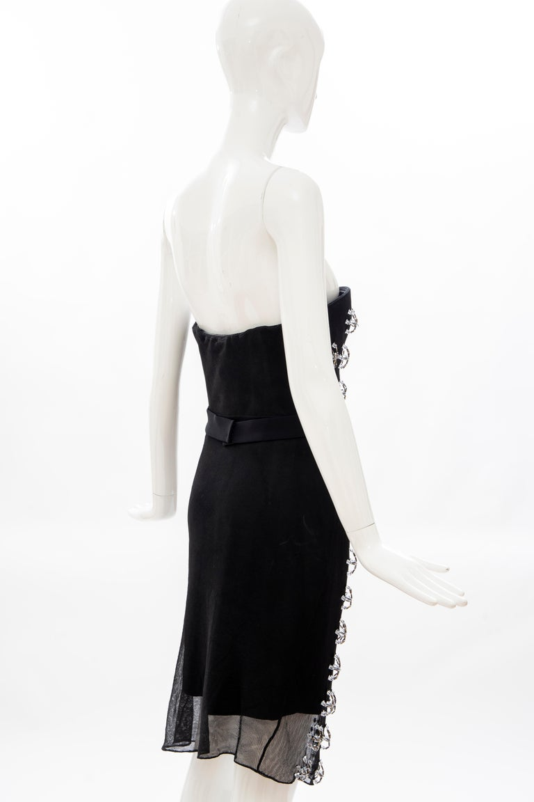 Raf Simons for Christian Dior Runway Strapless Embroidered Dress, Spring 2013 For Sale 7