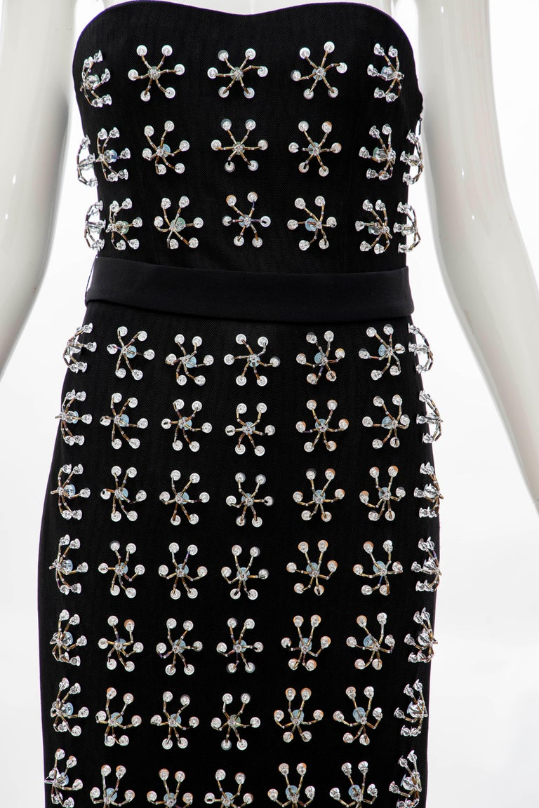 Raf Simons for Christian Dior Runway Strapless Embroidered Dress, Spring 2013 In Excellent Condition For Sale In Cincinnati, OH