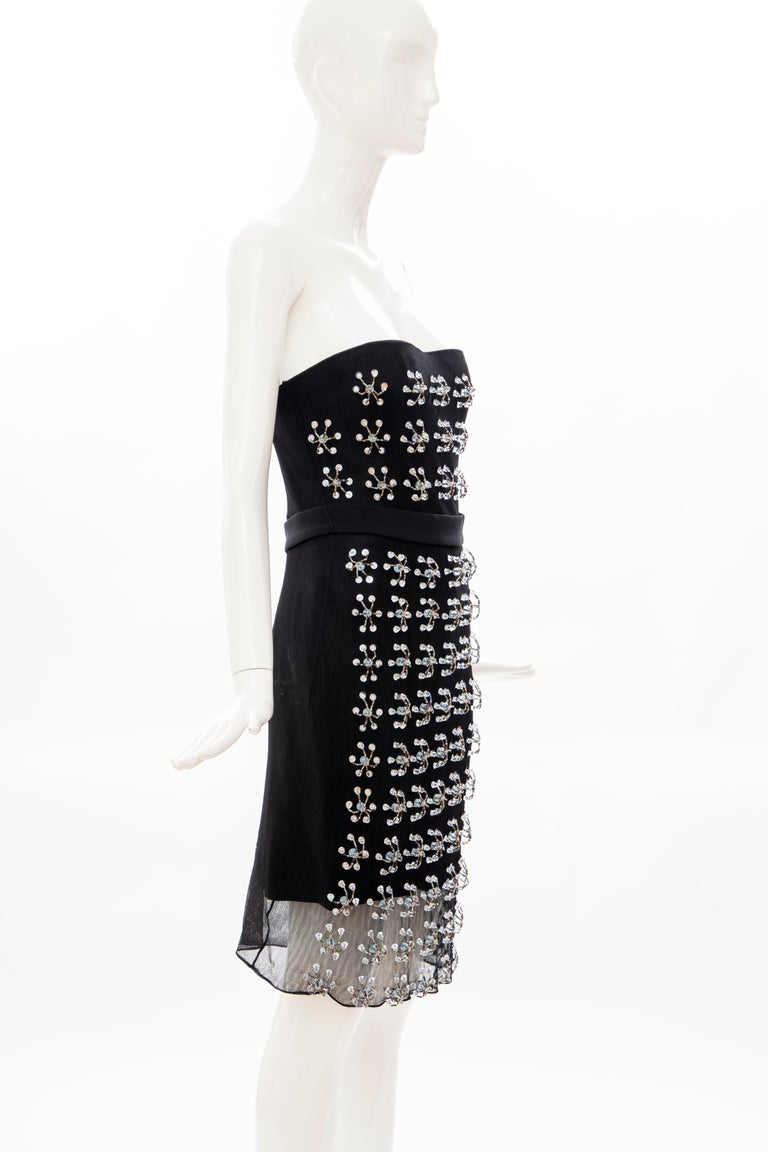 Women's Raf Simons for Christian Dior Runway Strapless Embroidered Dress, Spring 2013 For Sale