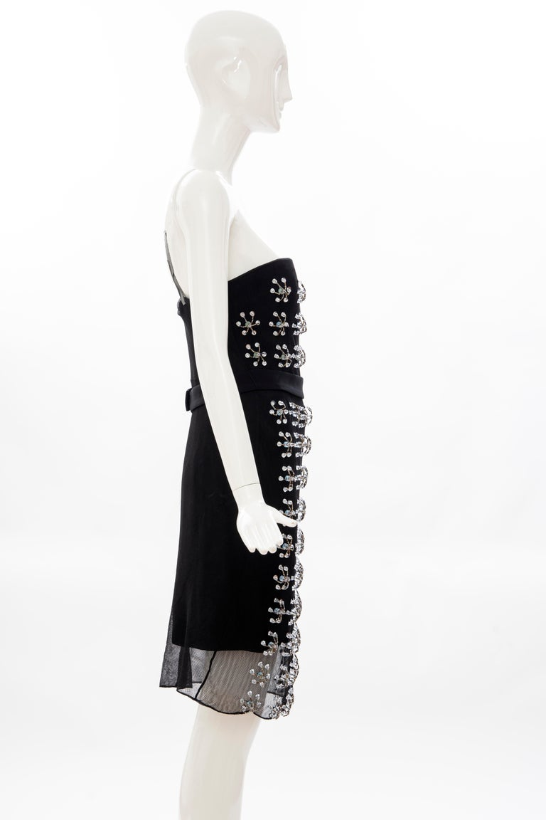 Raf Simons for Christian Dior Runway Strapless Embroidered Dress, Spring 2013 For Sale 1