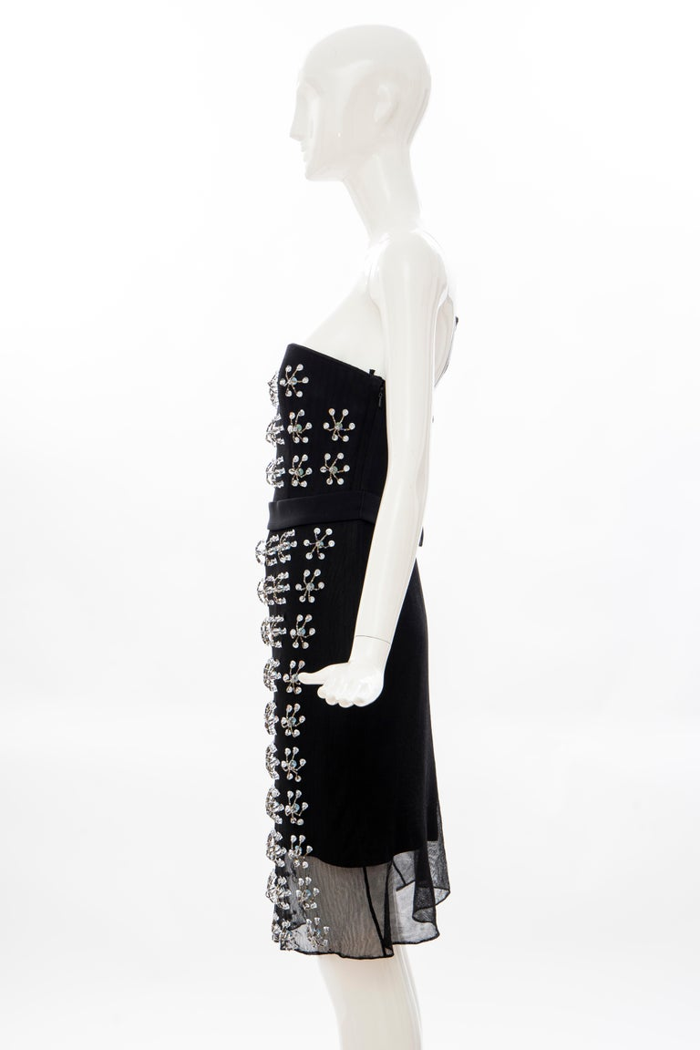 Raf Simons for Christian Dior Runway Strapless Embroidered Dress, Spring 2013 For Sale 3