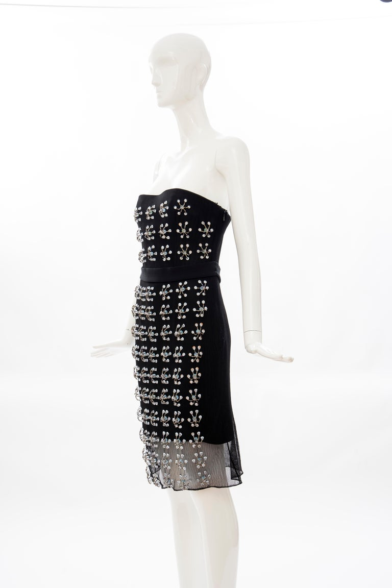 Raf Simons for Christian Dior Runway Strapless Embroidered Dress, Spring 2013 For Sale 4